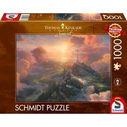 Schmidt Spiele Puzzle Spirit, Das Kreuz, 1000 Puzzleteile, Thomas Kinkade; Made in Europe