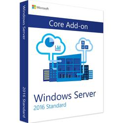 Microsoft WindowsServer 2016 Standard licencja dodatkowa Dodatkowa licencja Core AddOn