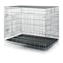 TRIXIE Hundekäfig verzinkt 86 cm x 116 cm x 77 cm