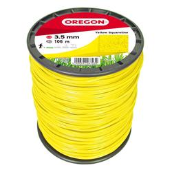 OREGON - quadratischer Faden in gelb 3,5mm x 106m