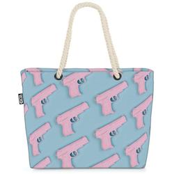 VOID Strandtasche (1-tlg), Spielzeugpistole Beach Bag Muster Abstrakt Modern Skandinavisch Design Plastik
