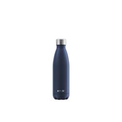 FLSK Isolierflasche, FLSK Trinkflasche Isolierflasche Edelstahl 500ml Doppelwandig Thermoflasche blau