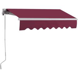 COSTWAY Gelenkarmmarkise Terrassenmarkise rot 200 cm x 250 cm