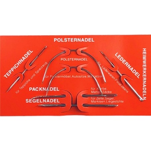 Heimwerker Nadel Set 6 Nadeln Polsternadel - Ledernadel - Packnadel - Segelnadel - Teppichnadel