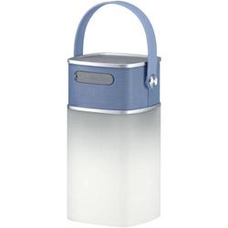 LED 4 Music LED-Leuchte mit Lautsprecher und Powerbank blau