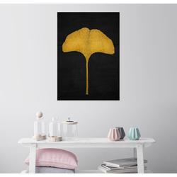 Posterlounge Wandbild, Goldenes Ginkgoblatt 70 cm x 90 cm