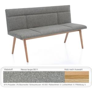expendio Sitzbank Aranel, Eiche bianco geölt, Nexus taupe 9011 180x87x58 cm aus Massivholz 180 cm x 87 cm x 58 cm