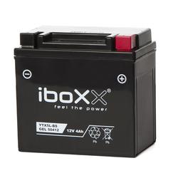 Iboxx Motorrad-Batterie  Gel, YTX5L-BS, 12 Volt, 4 Ah