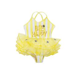 Kinder Badeanzug mit Tutu Bee Happy Badeanzüge  gelb Gr. 98 Mädchen Kleinkinder
