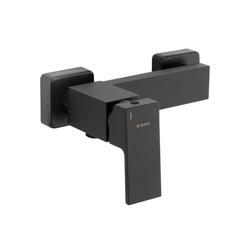 Deante Wannenarmatur ANEMON-30 Moderne Duscharmatur für Wandmontage ohne Duschset matt schwarz, B/H/T: 10,7/18,3/13 cm