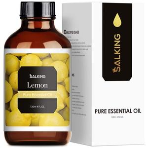SALKING Zitronenöl 120ml, 100% Reine Natürliche Zitrone ätherisches öl für Aroma Diffuser, Aromatherapie Duftöl für Duftlampen Luftbefeuchter, Massage, Seife, Kerzenherstellung, Geschenke für Frauen