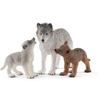 Schleich Wild Life - Wolfsmutter mit Welpen 42472