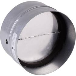 Wallair N35984 Rückluftsperrklappe mit Dichtungsgummi Passend für Rohr-Durchmesser: 12.5cm Verzink