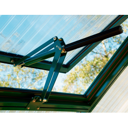 Beckmann Gewächshaus-Fensteröffner, 30 kg max. Hebekraft, für Gewächshaus Allplanta® grün