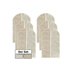 1PLUS Kleidersack 6er Set 1PLUS hochwertiger Kleidersack Anzugsack, 60 x 100 cm