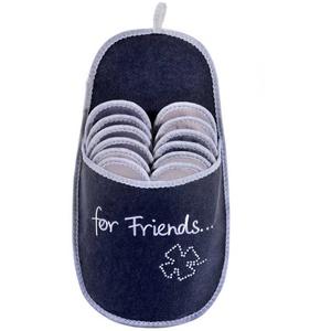 ONVAYA ABS Gästepantoffel for Friends, 6er Set, Antirutsch, Hausschuhe, Gästeschuhe, Pantoffel Pantoffel