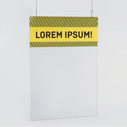 1 Plexiglaswand zum Aufhängen bedrucken, Sicherheitswand