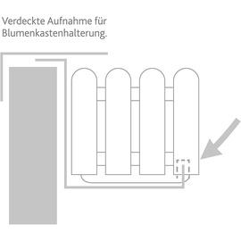 Emsa Blumenkasten Landhaus 75 x 20 x 16 cm weiß