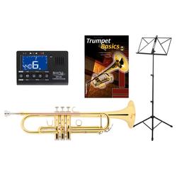 Classic Cantabile TR-30L B-Trompete Set mit Stimmgerät/Metronom, Notenständer und Trompetenschule