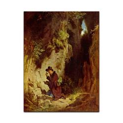 Bilderdepot24 Wandbild, Carl Spitzweg - Der Geologe bunt 40 cm x 60 cm