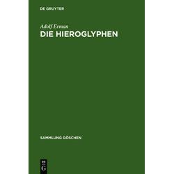 Die Hieroglyphen als Buch von Adolf Erman