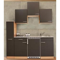 RESPEKTA Küchenzeile, Breite 180 cm grau