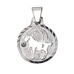 Firetti Sternzeichenanhänger runde Form, diamantiert, mit Kristallstein 10