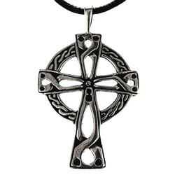 Kiss of Leather Kettenanhänger Keltenkreuz 925 Sterling Silber Keltisch Kelten Kreuz