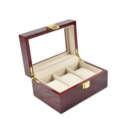 TOPMELON Uhrenbox, Uhrenkoffer für 3 Uhren Aufbewahrung für Uhren 16.5 cm x 8 cm x 11 cm