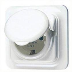 Gewiss GW95924 1fach Unterputz-Fehlerstrom-Sicherheitssteckdose IP44 Weiß