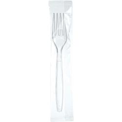 DUNI Dinner Einweg-Besteck, transparent, Einmalbesteck aus Polystyrol, 1 Karton = 250 Stück, Gabel