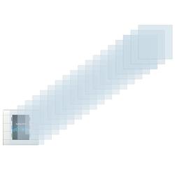 Savvies Schutzfolie für MDT Glastaster II, (18 Stück), Folie Schutzfolie klar