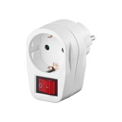 Zwischenstecker mit 2-poligem Schalter für 230 V Steckdosen