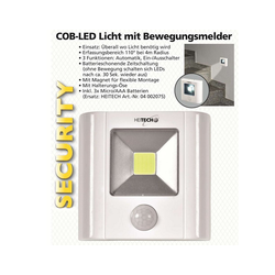 HEITECH Bewegungsmelder mit dem COB-LED Licht Automatik, E Bewegungsmelder