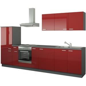 Küchenzeile mit Elektrogeräten  Fulda ¦ rot