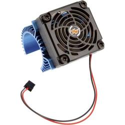 Hobbywing Motor-Kühlkörper mit Ventilator Passend für Modellbau-Motor: 540er Elektromotor Blau (m
