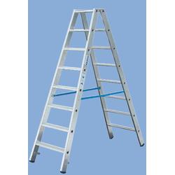 Stufen Doppelleiter 2 x 5 Stufen Leiter Alu