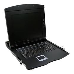 LogiLink Professional 19 LCD KVM Konsole mit 17 TFT Monitor und Tastatur (US)