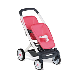 Smoby Puppenwagen Quinny Zwillings-Sport-Puppenwagen, pink/weiß