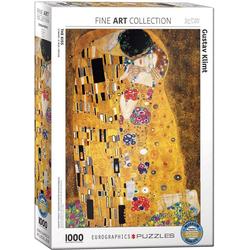 empireposter Puzzle Der Kuss von Gustav Klimt - 1000 Teile Puzzle Format 68x48 cm, 1000 Puzzleteile