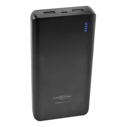ANSMANN® Powerbank 20000mAh & 2.5A Ausgang, 2 USB Ports & LED Anzeige Powerbank 20000 mAh (3.7 V)