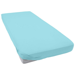 Spannbettlaken Jersey-Elasthan, Bassetti, bügelfreie Qualität blau 140-160 cm x 200-220 cm
