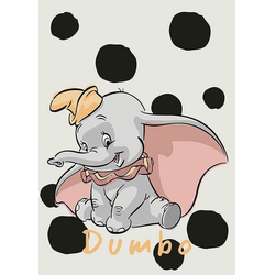 Komar Poster Dumbo Dots, Disney, Höhe: 70cm 50 cm x 70 cm