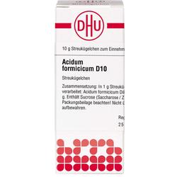 ACIDUM FORMICICUM D 10 Globuli 10 g