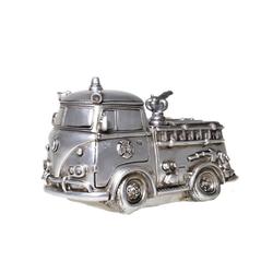 Udo Schmidt Bremen...das Original Spardose Spardose Feuerwehr Auto Antik Silber Feuerwehrauto Sparschwein Figur