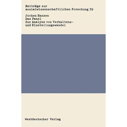 Das Panel als Buch von Jochen Hansen