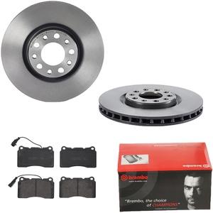 Brembo | 2 Bremsscheiben COATED DISC LINE Belüftet Ø305 Mm + Bremsbeläge Vorne (IJDTIDBPW5)