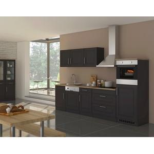Küchenzeile mit Elektrogeräten Küche mit Geschirrspüler Einbauküche 300 cm grau