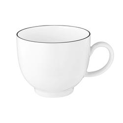Seltmann Weiden Kaffeetasse Lido Black Line in weiß, 0,22 l