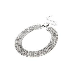 Next Gliederkette Breite Kristall-Halskette